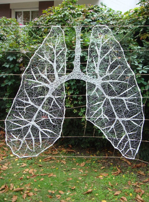 'Deep Breath' String Yarn Bomb By Anastassia Elias