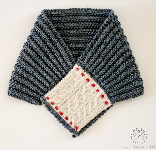 You'll Want To Knit This Charming Cable & Stitch Ascot Designed by Pam Powers