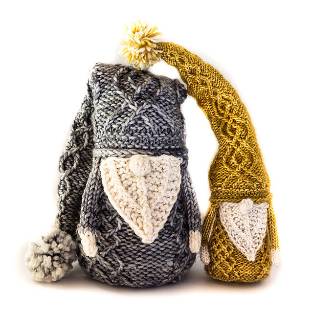 Here We Gnome Again … Meet Gnancy and Gneville, They're 100% Knittable!