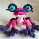 Too Cute … Oversized Pink Poisonous Dart Frog Amigurumi, Get the Crochet Pattern!