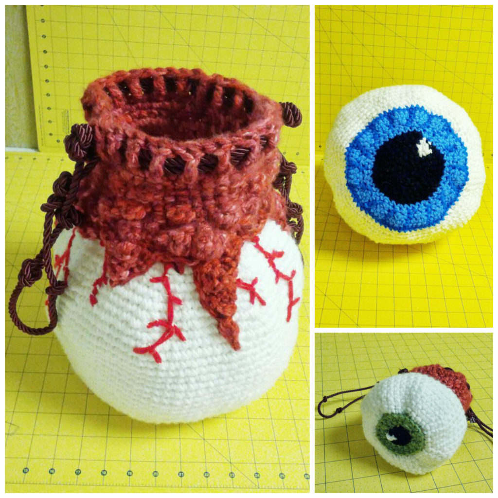 Crochet a Creepy Eyeball Bag ... Get the Pattern, Freak Out Your Friends