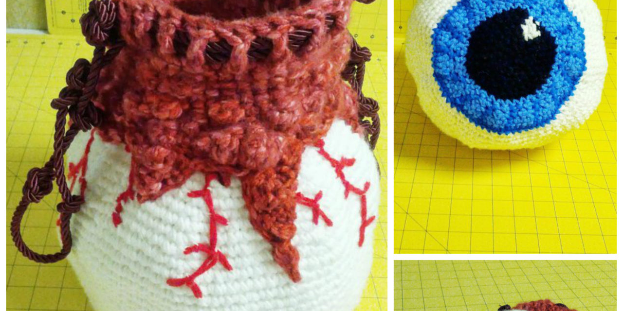 Crochet a Creepy Eyeball Bag … Get the Pattern, Freak Out Your Friends