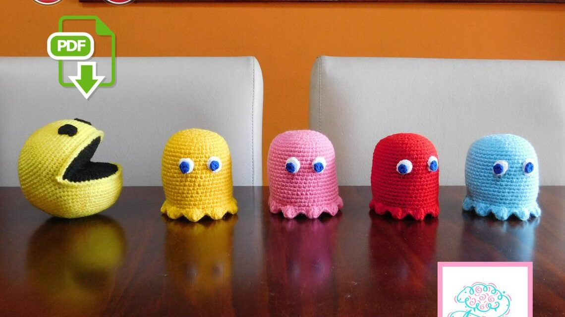 Keep Calm and Om Nom With This Fun Pac-Man Amigurumi Pattern Set For Crocheters