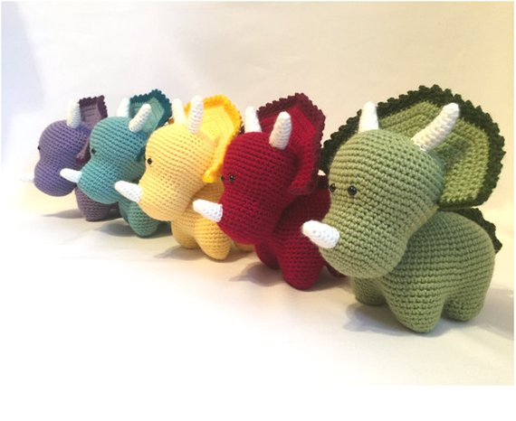 The Best Crochet Triceratops Patterns - These Handmade Dinosaurs Rule!