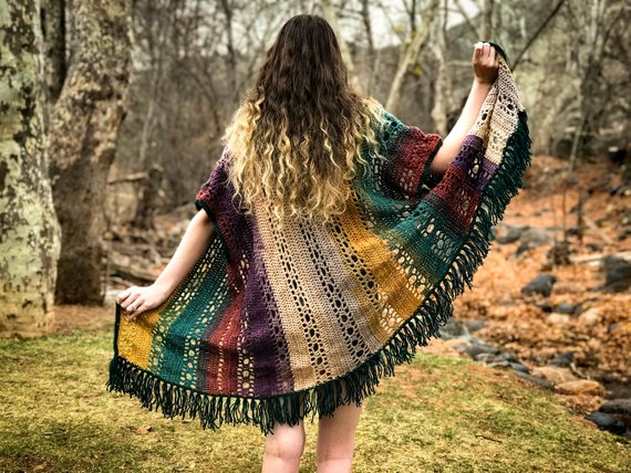 Gorgeous Boho-Style Crochet Kimono, Pattern Designed By Hooked On Tilly