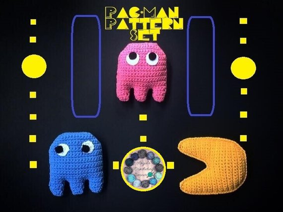 Keep Calm And Om Nom With This Fun PacMan Amigurumi Pattern Set For Custom Pacman Pattern