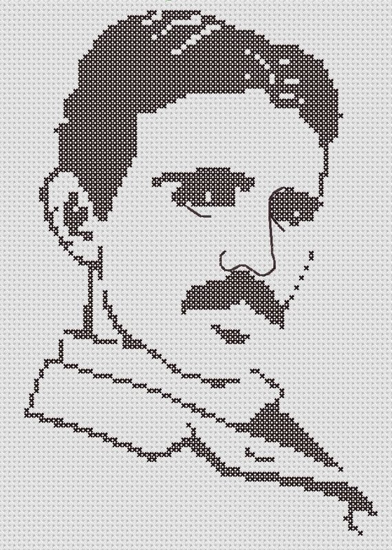 Celebrate Nikola Tesla's Birthday With This Silhouette Cross Stitch Pattern