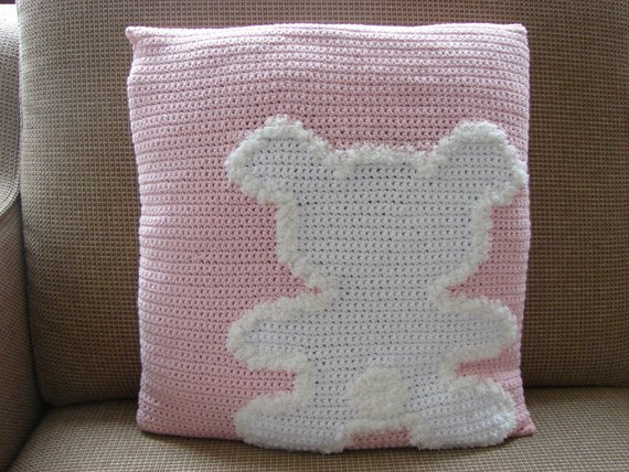 Fun pillow, get the pattern from CrochetShopCarolina