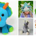 The Best Crochet Triceratops Patterns – These 13 Handmade Dinosaurs Rule!