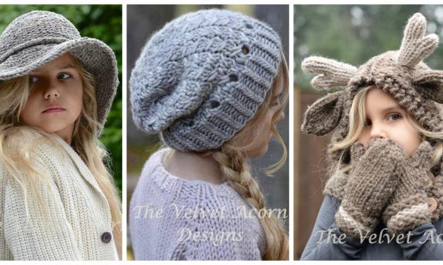 Designer Spotlight: Knitted Animal-Inspired Hoods, Hats and Headbands – Patterns By The Velvet Acorn