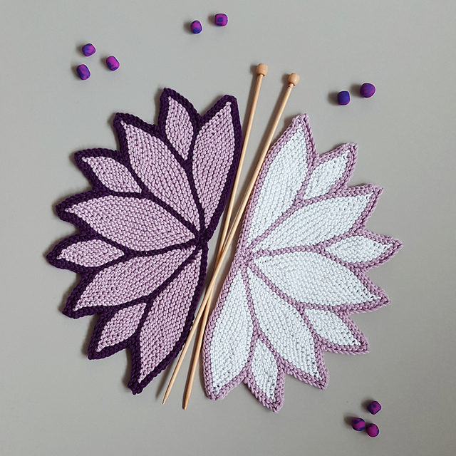 Knit a Delicate Water Lily Pot Holder / Coaster – Must Be Seen, SO Beautiful! Free Pattern Too!