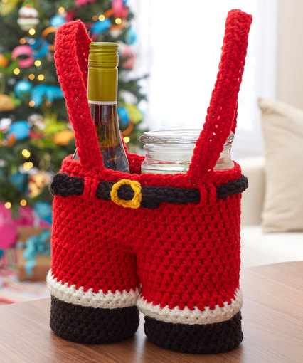 It's Not Too Early To Crochet a Santa Pants Gift Holder … The Pattern is FREE!