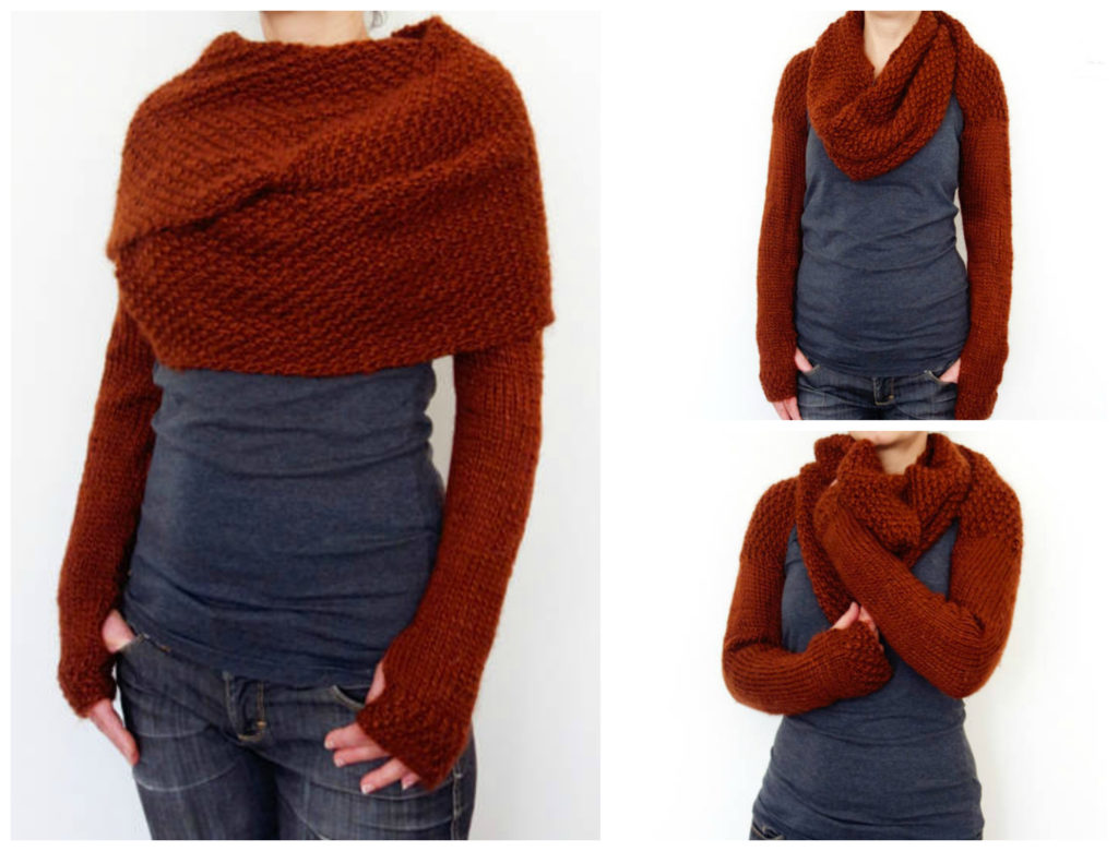Look Great This Fall Knit This Long Sleeve Wrap Around Sweater