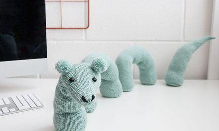 Knit A Desk Loch Ness … Monster That Is … Great Gift Idea!
