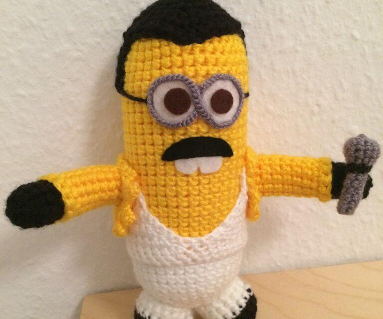 A Crochet Freddie Mercury Minion Amigurumi!