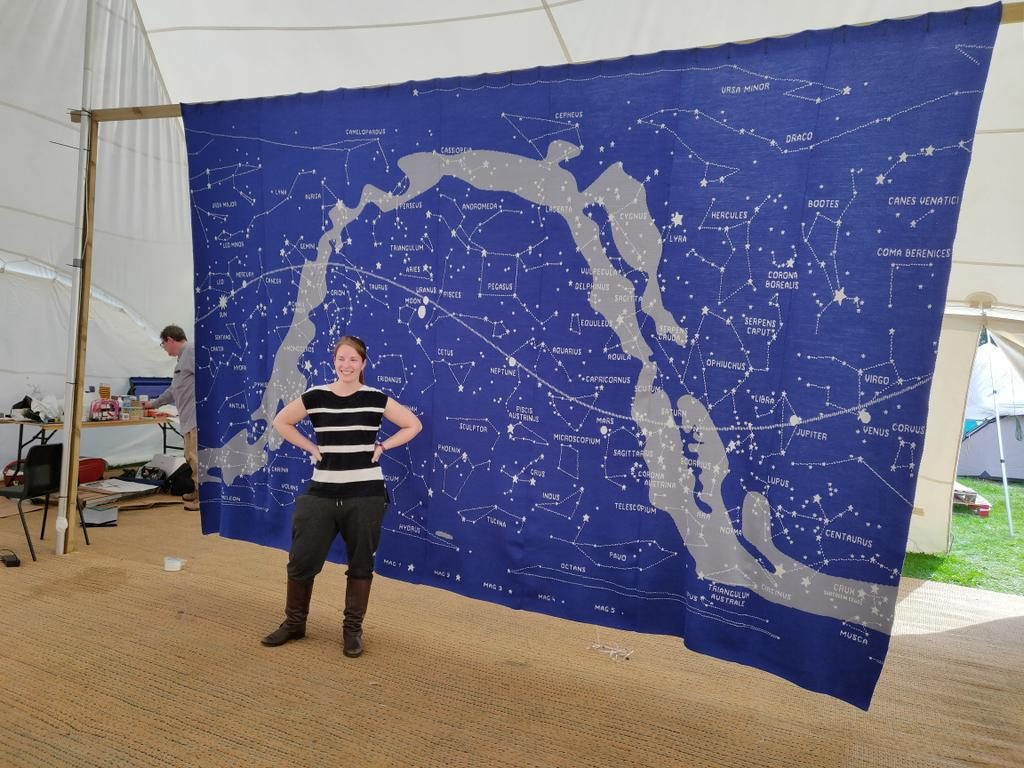 Epic Sky Chart Machine-Knit By Heart of Pluto ... Can You Find Your Favorite Constellation?