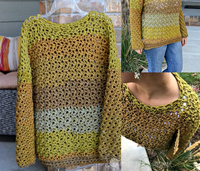 Crochet a Four-Hour Sweater With The Lemon Peel Stitch - The Pattern is FREE!