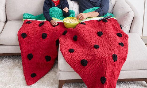Knit a Watermelon Wedge Snuggle Sack – Free Pattern!
