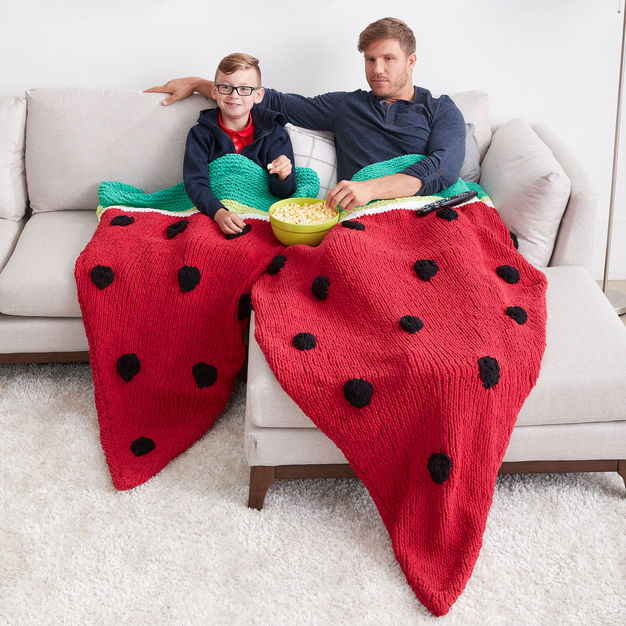 Knit a Watermelon Wedge Snuggle Sack – Free Pattern!