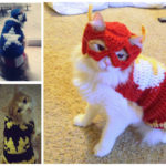 I Am The Flash Cat … Check Out These Crochet Superhero Cosplays For Cats! Patterns & Tutorials Too!