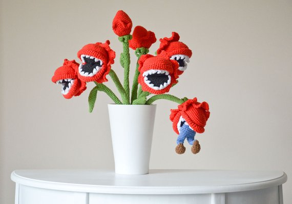 Krawka's cannibal flowers, get the pattern!