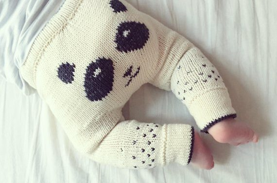 P-P-P-P-P-Panda Pants! Knit a Pair of These Sweeties For a Babe You Love!