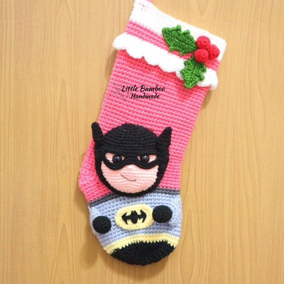 Crochet Batman Stocking Pattern by Little Bamboo Handmade
