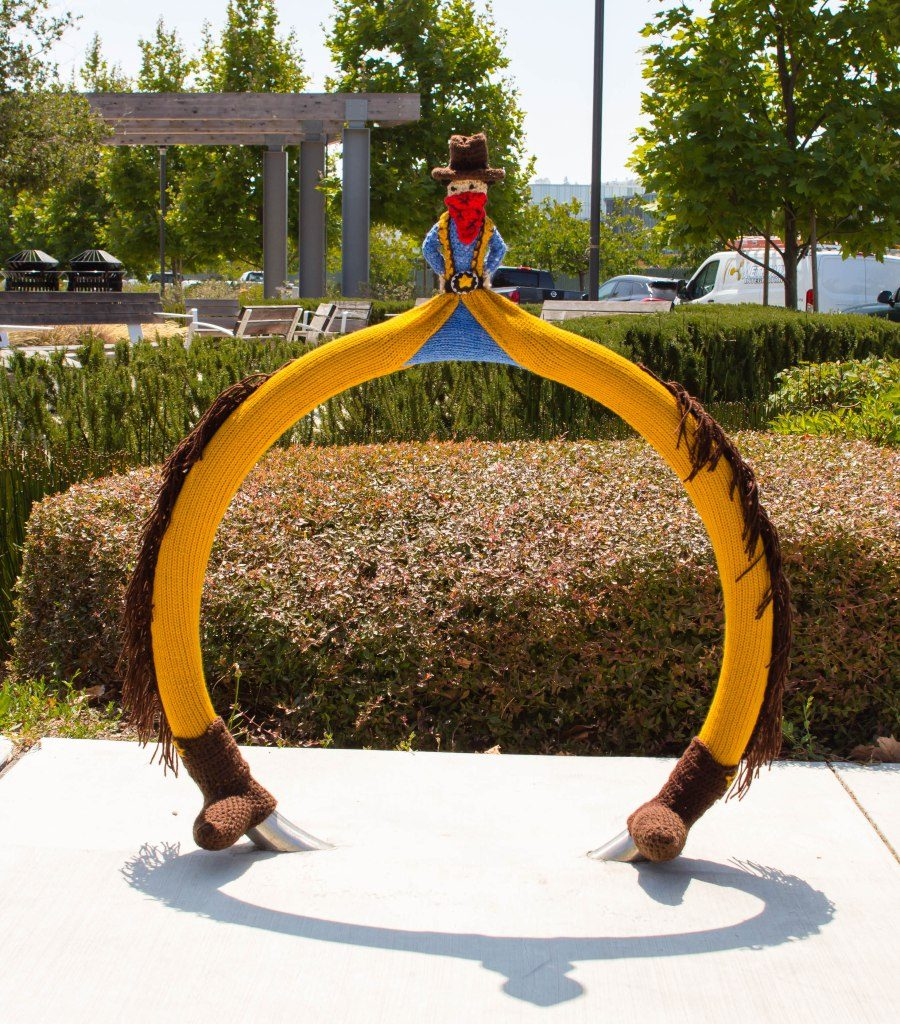 Hello Cowboy Kazoo! Meet This Silly New Yarn Bomb From Knits For Life ...