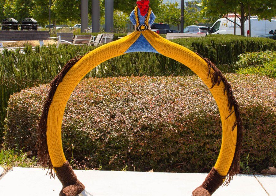 Hello Cowboy Kazoo! Meet This Silly Yarn Bomb From Knits For Life …
