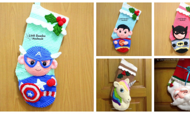 Get a Ahead of the Holiday Crunch With Crochet Superhero Stocking Patterns