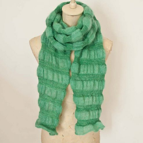 Knit a Soft Stripe Scarf For The Best Texture, Pattern is FREE!