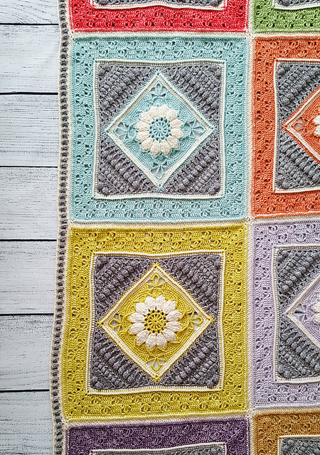 Love Vintage? Crochet a Vibrant Charlotte's Dream Blanket ... Free Pattern With Heirloom Potential!