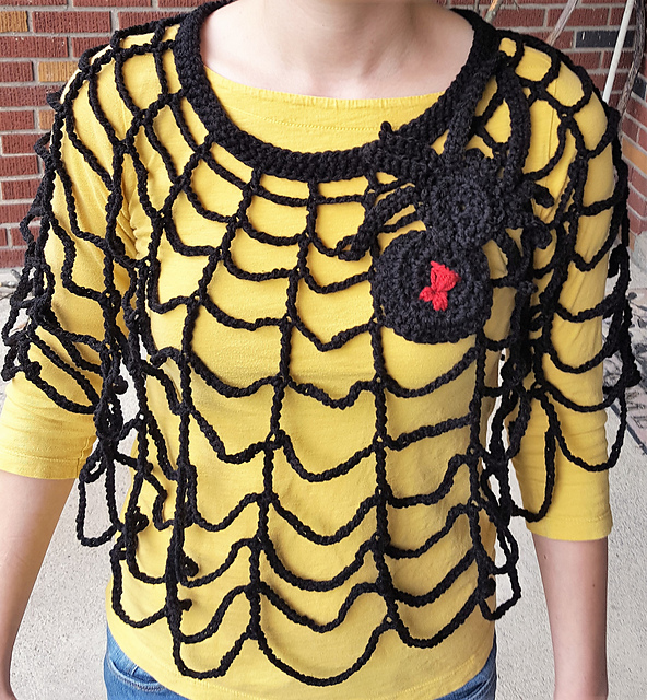 This Spider Web Poncho is the Smartest Thing Ever ... Free Pattern Too!