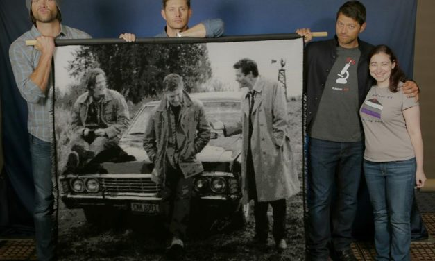 She Crocheted a Graphgan Inspired By the TV Show, Supernatural and the Actors Loved It!