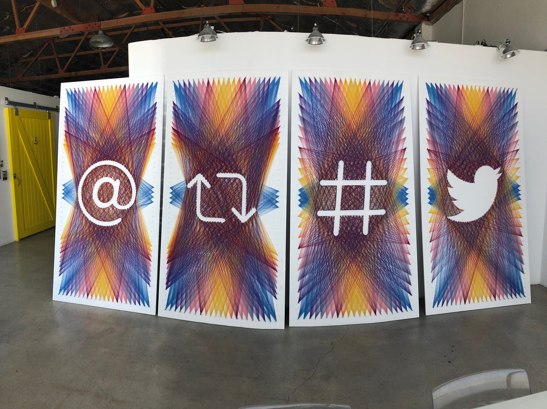 Check Out This Amazing String Art By Knits For Life At Twitter HQ