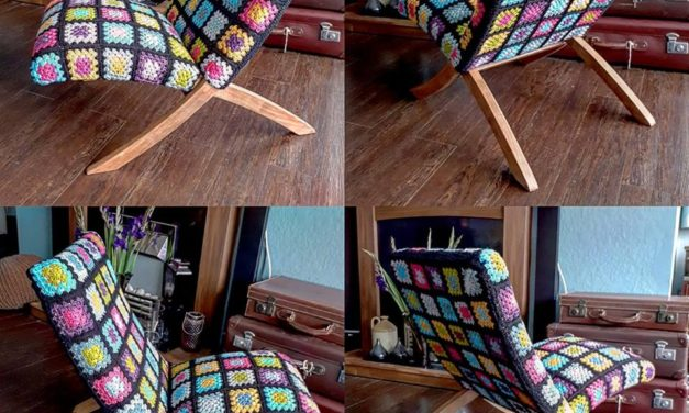 This Stylish Mid-Century Chair Gets Granny Square Update and the Results Are Spectacular