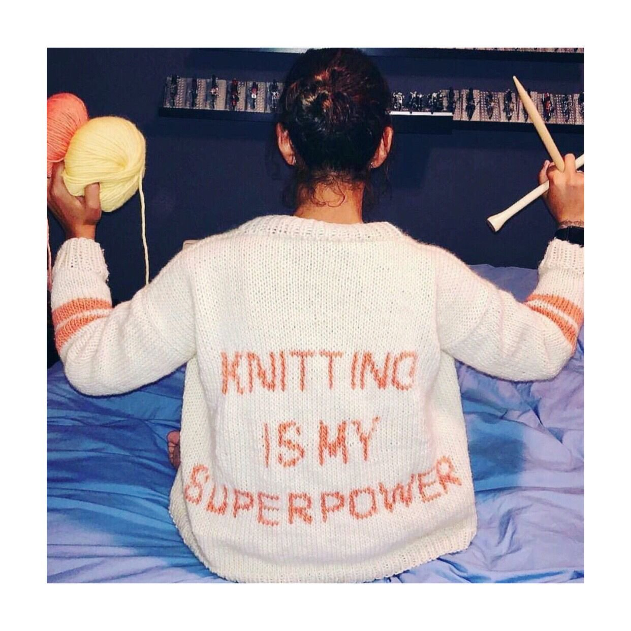 'Knitting Is My Superpower' Sweater