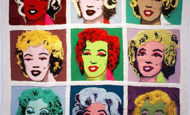 Andy Warhol's 'Marilyn' Knit and Stitched By The Materialistics
