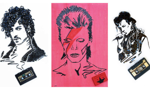 Erika Iris Simmons Makes Portraits From Recycled Cassette Tapes – She's a Genius!