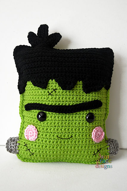 Crochet a Freaky Fun Frida-Inspired Frankenstein Kawaii Cuddler, Free Pattern!