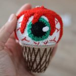 Crochet a Creepy 'Eye Scream' Cone! Get the Free Pattern From Leithygurumi … 👁️🍦😱