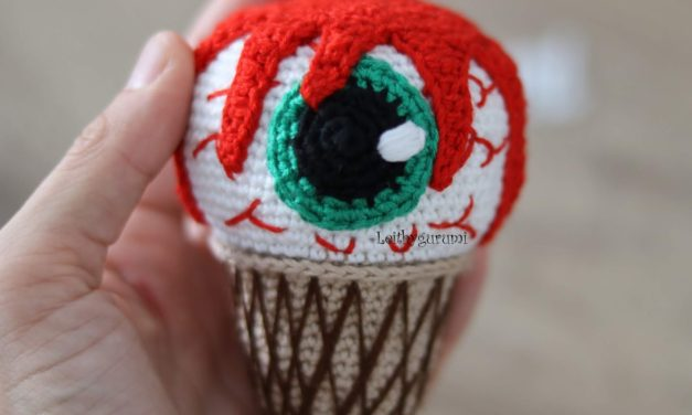 Crochet a Creepy 'Eye Scream' Cone! Get the Free Pattern From Leithygurumi