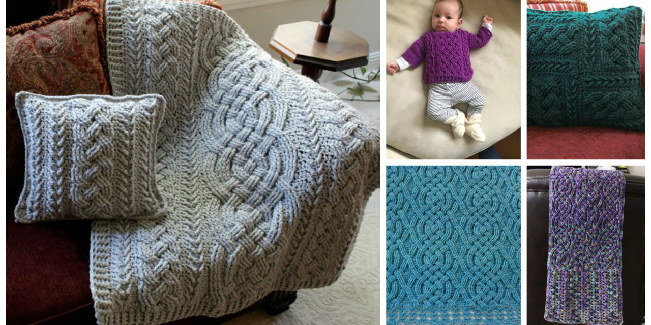 Designer Spotlight: Celtic & Aran Style Cable Crochet Patterns From Rebecca's Stylings