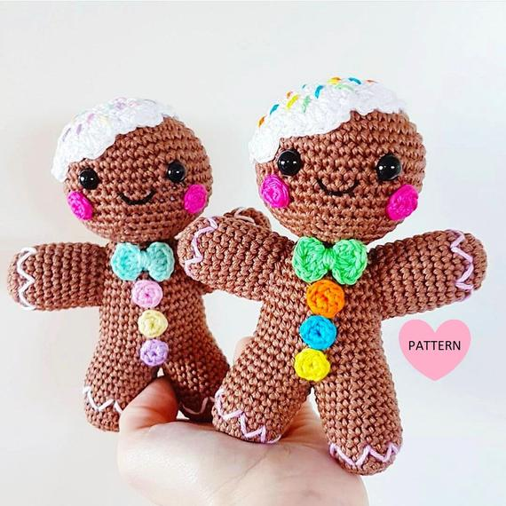 Get the Gingerbread Man pattern from Jennifer Santos of Super Cute Design Shop