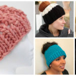 2018 Update: The Best Free Knit Ponytail Hat Patterns (aka Messy Bun Beanies) – Still a Popular Trend!