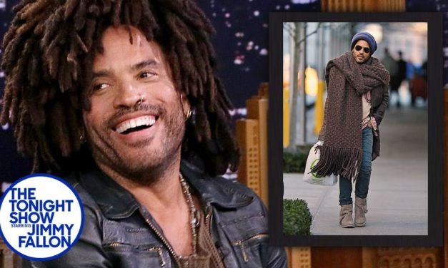 Lenny Kravitz Weighs In On The Whole Big Knit Scarf Meme … So Funny, I'm Dying!