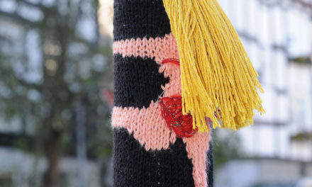 Clever Yarn Bomb Spotted in Freudenberg, Germany … 'Pole Dance'