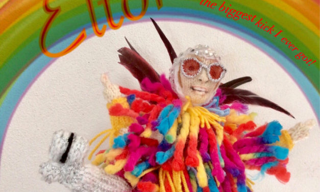 Denise Salway's Knitted Tribute To Elton John is Rainbow Fantastic!