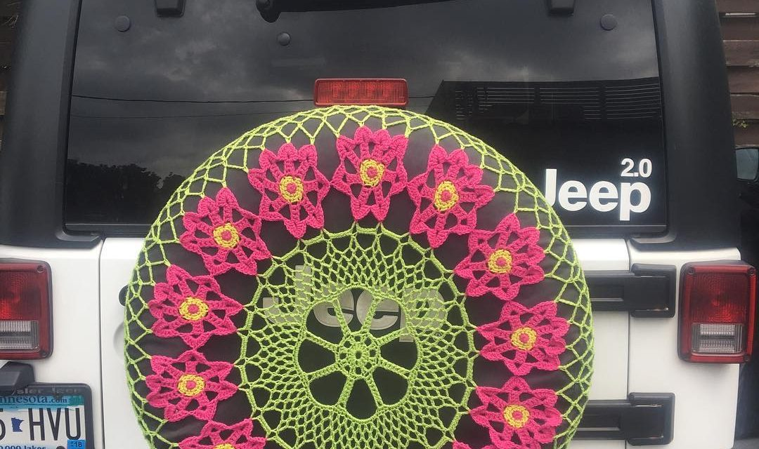 Beautiful Crochet Spare Tire Doily Spotted in Minneapolis – Lovely!