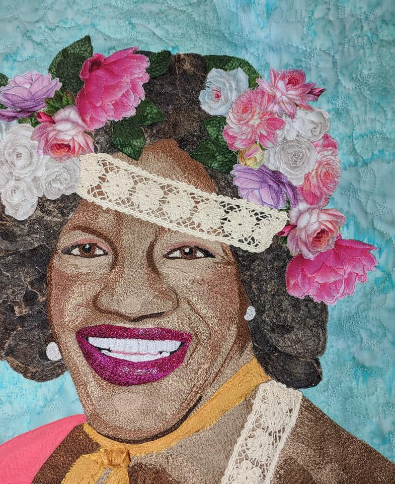 Kristina McCurley's Marsha P. Johnson Embroidered Quilt ... Just In Time For LGBT History Month